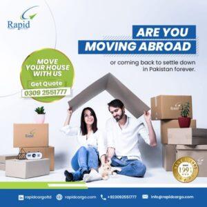 Rapid Cargo social media post by working as a digital marketing agency
